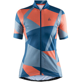 Craft Hale Graphic - Maillot manches courtes Femme - orange/bleu